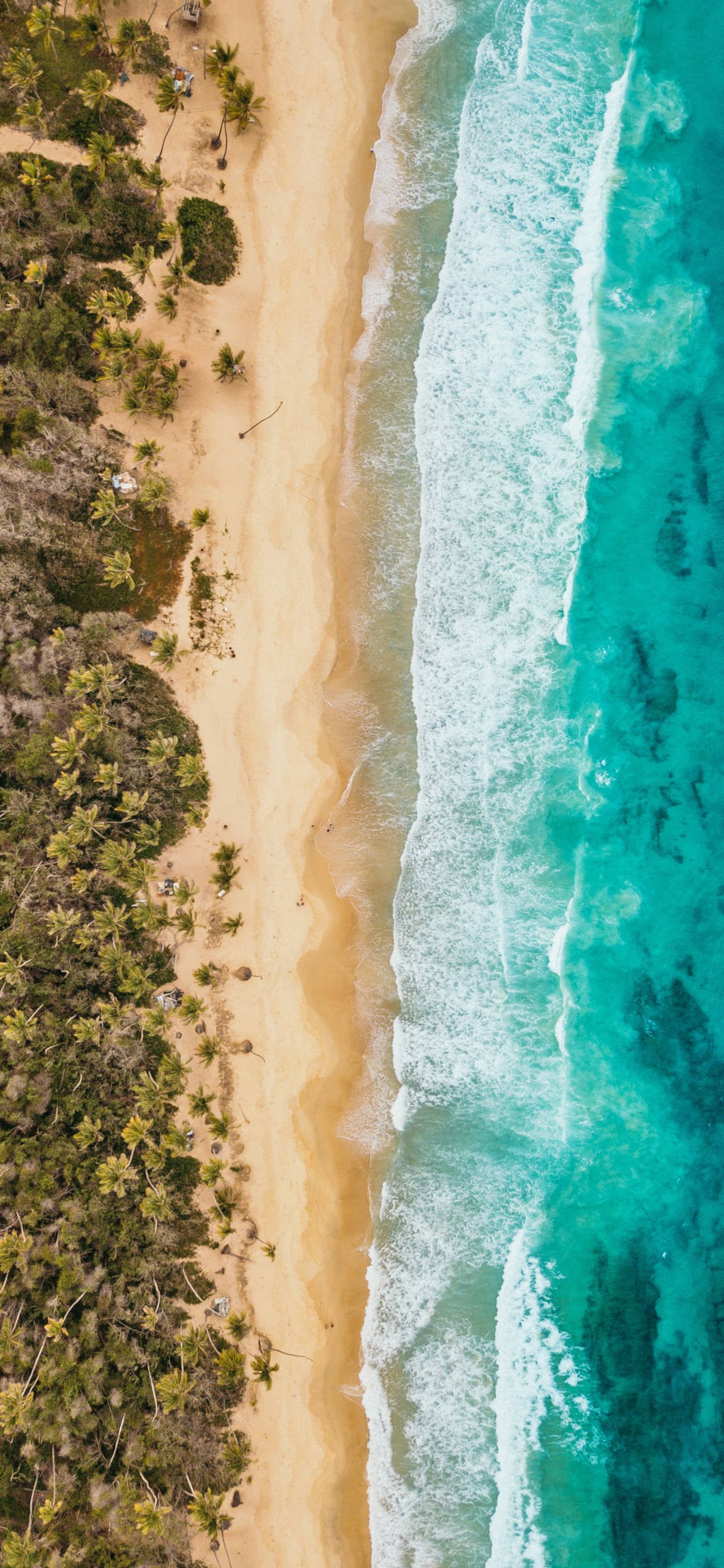 iPhone wallpapers dron view beach caribean Drone view