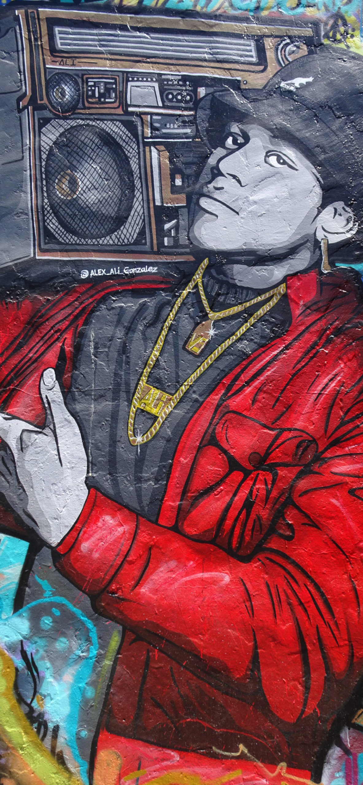 iPhone wallpapers mural hip hop scaled Mural