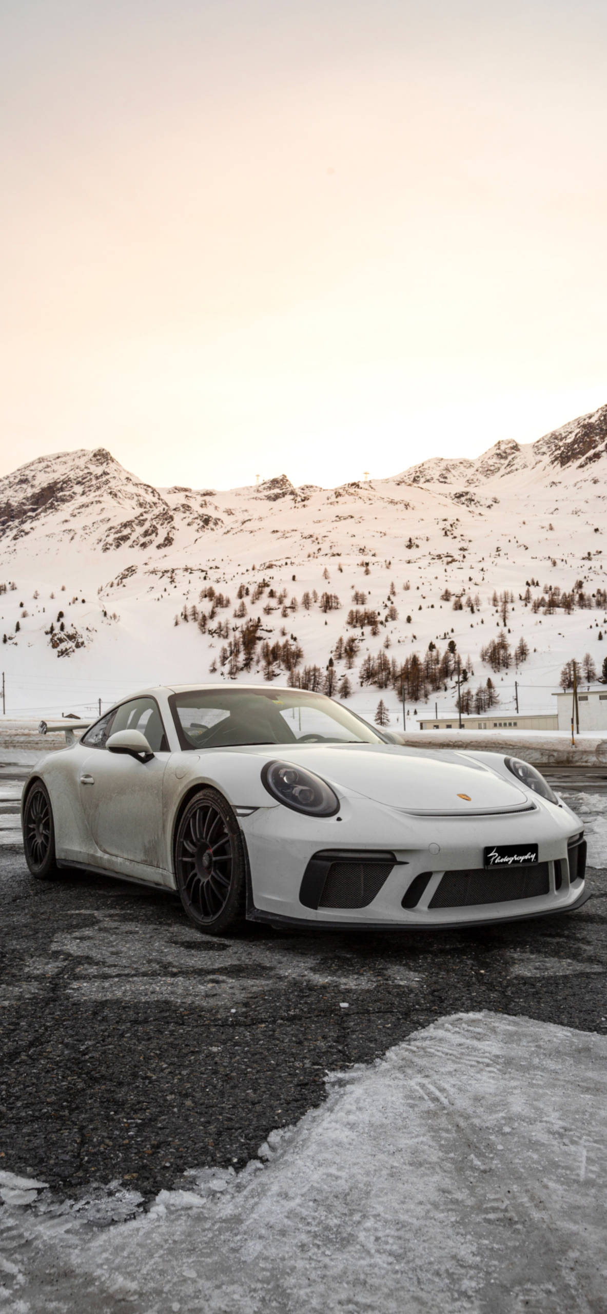 iPhone wallpapers cars porche snow Cars