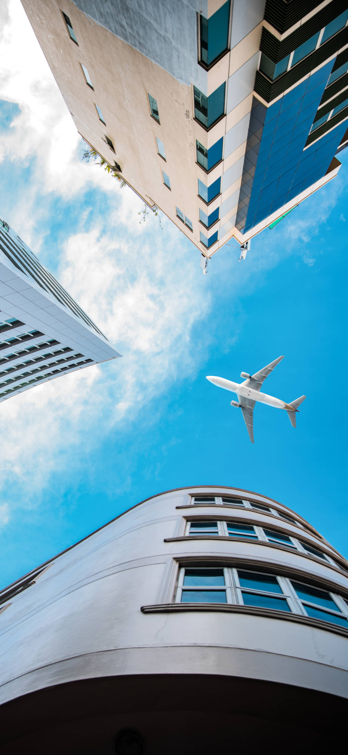 iPhone wallpapers airplane low angle building Airplane
