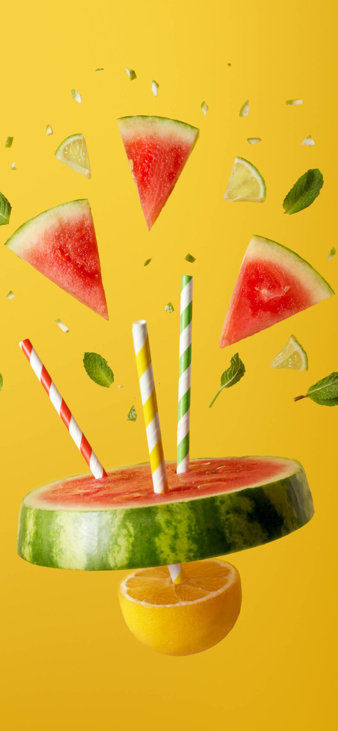 iPhone wallpapers fruits watermelon lemon scaled Fruits