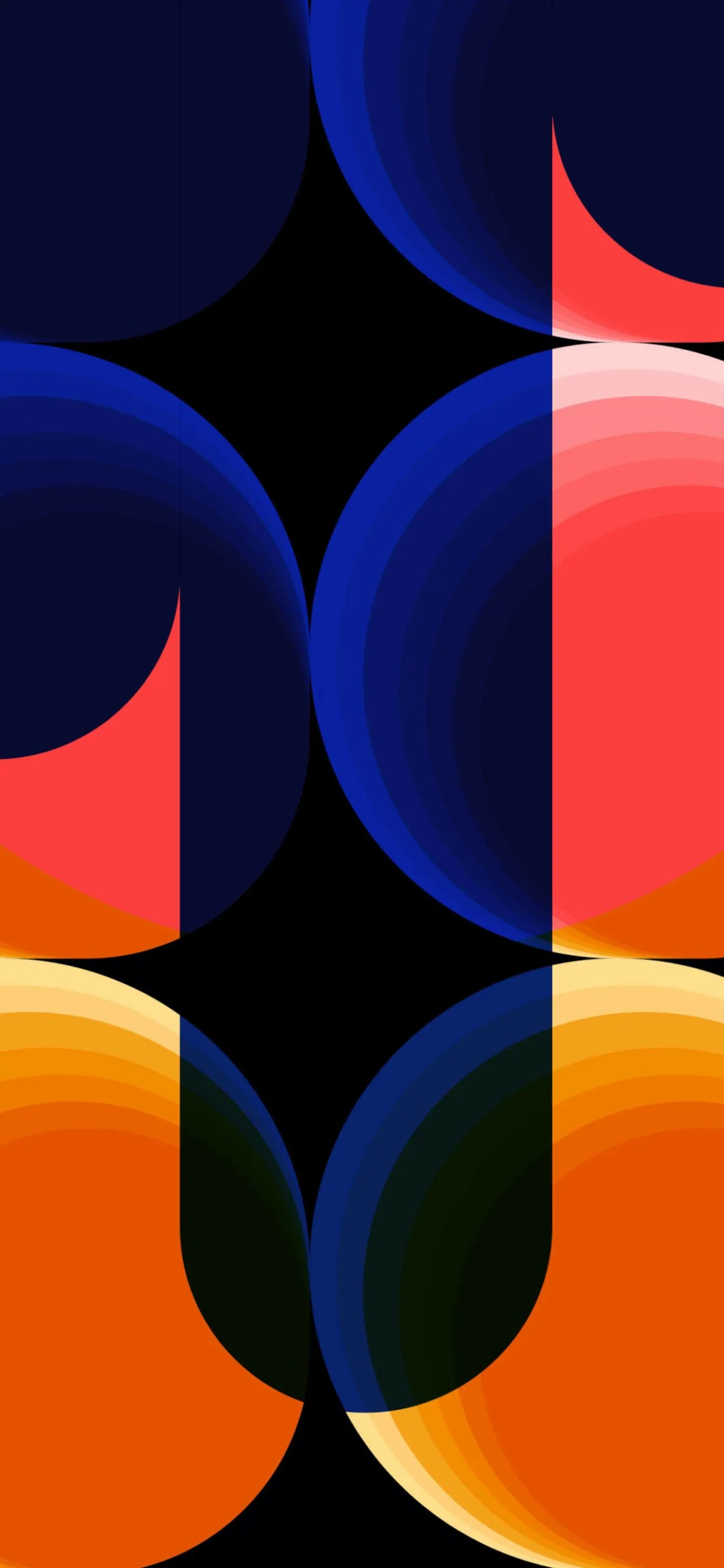 iPhone wallpapers pattern blue orange scaled Patterns