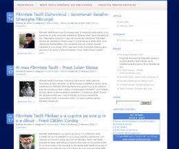 Părintele Teofil. Un site dezvoltat în memoria unei personalități