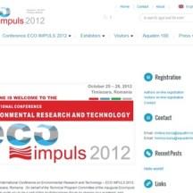 Site de prezentare a unui eveniment, conferință internațională
