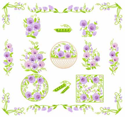 sweet pea embroidery # 20