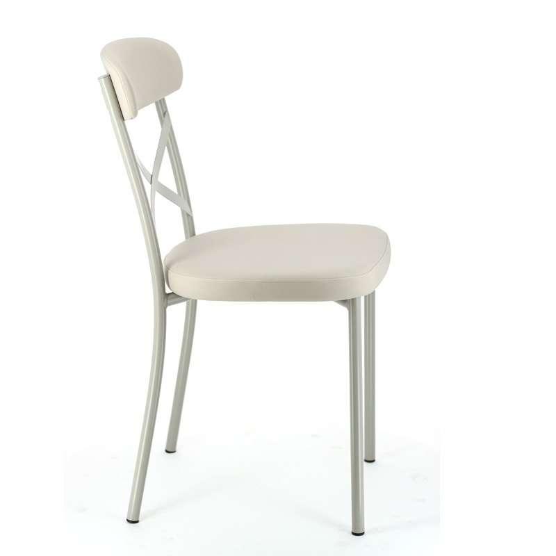 chaise de cuisine en vinyl et metal calia 3 3