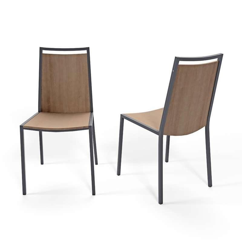 chaise de cuisine en metal et bois concept 4 1