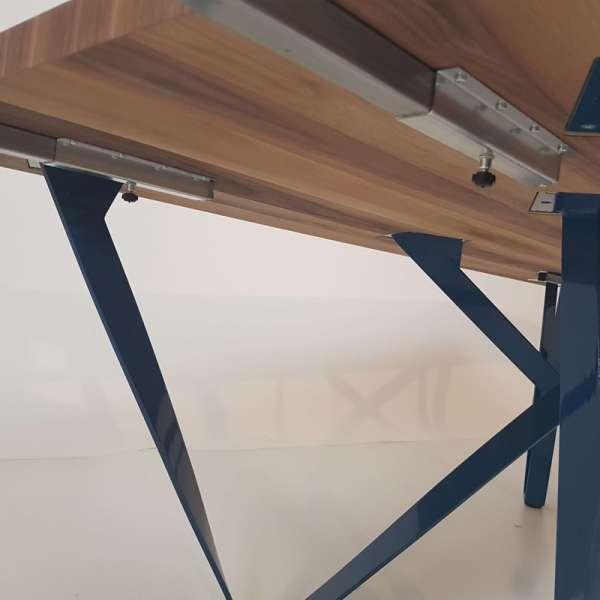 Table Design Extensible En Mtal Et Bois Wave