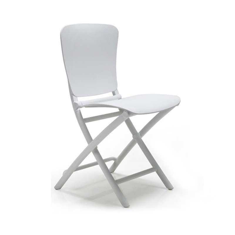 chaise d appoint pliante en polypropylene blanc zac classic 1