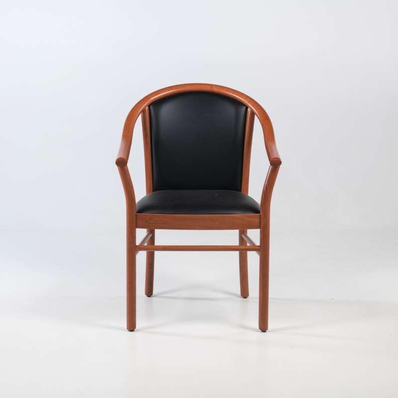 fauteuil bridge de salon en bois avec assise et dossier rembourres manuela 2
