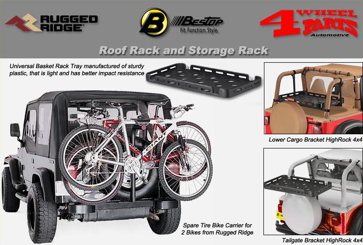 jeep wrangler yj overhead rack roof