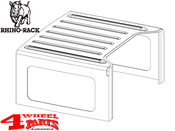 overhead rhino rack rail kit for hardtop wrangler jk year 07 10 2 doors