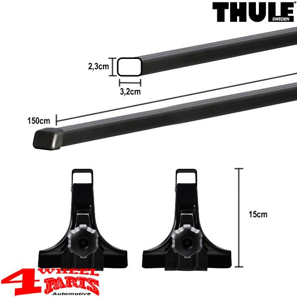 overhead roof rack bars thule wrangler tj year 97 06