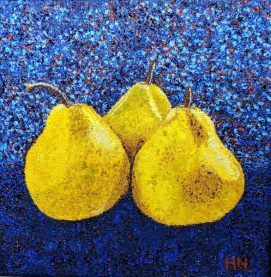 Pointillism Pears by Helen Norfolk