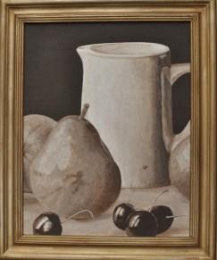 Jug & Cherries by Helen Norfolk, Acrylic on Canvas Board