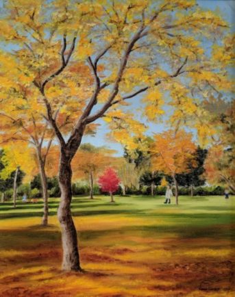 Autumn at Walpole Park by Claire Corbett-£100