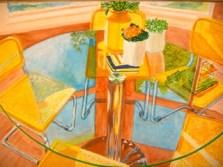 "Reflections by Brian Woollard, Gouache on Paper, 13.75"" x 10"""