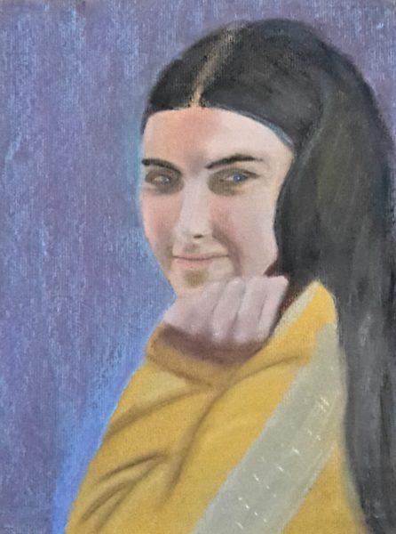 Girl in a Yellow Jumper by John Dawson
