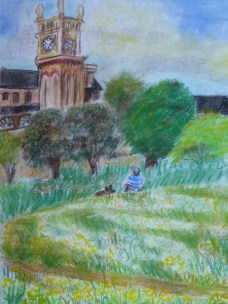 It will shine pastel on paper by Sibel Roller-Walach