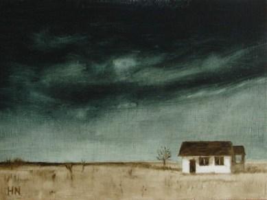 Prairie Sky by Helen Norfolk, Oil on Board, 20cm x 15cm