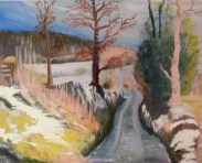 Winter oil on canvas by Sibel Roller-Walach