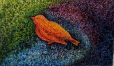 Wooden Bird by Susan Arthur-£60