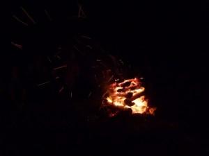 The Saturday night campfire.