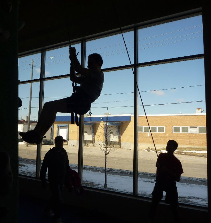 Scouts learn basic climbing skills