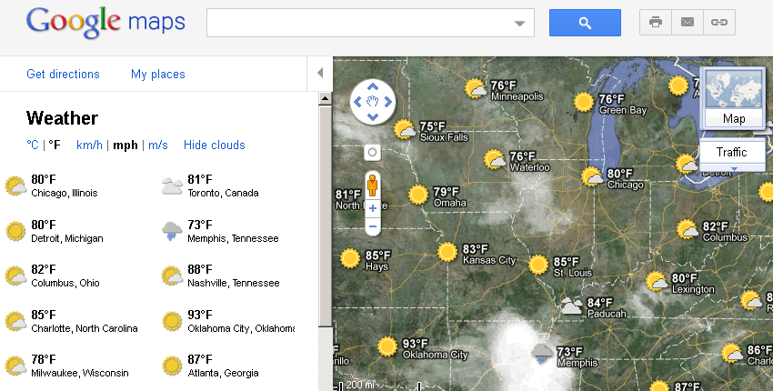 Google Adds A Weather Layer To Google Maps - 404 Tech Support