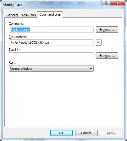 taskpad hidden c$