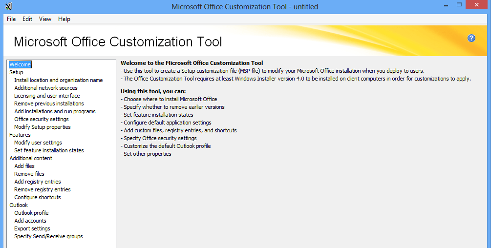 Office Group Policy Templates Using The Office 2013 Microsoft Office Customization Tool