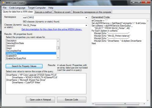 Use WMI Code Creator to simplify WMI scripting - 404 Tech Support