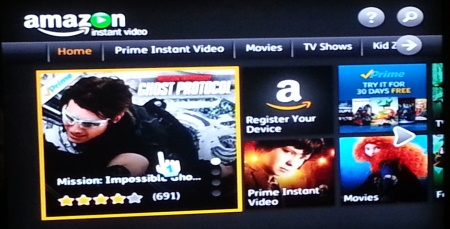 amazon instant video channel home