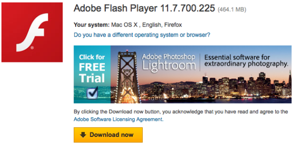 How do you make Adobe Flash Player a 460+ MB download? - 404
