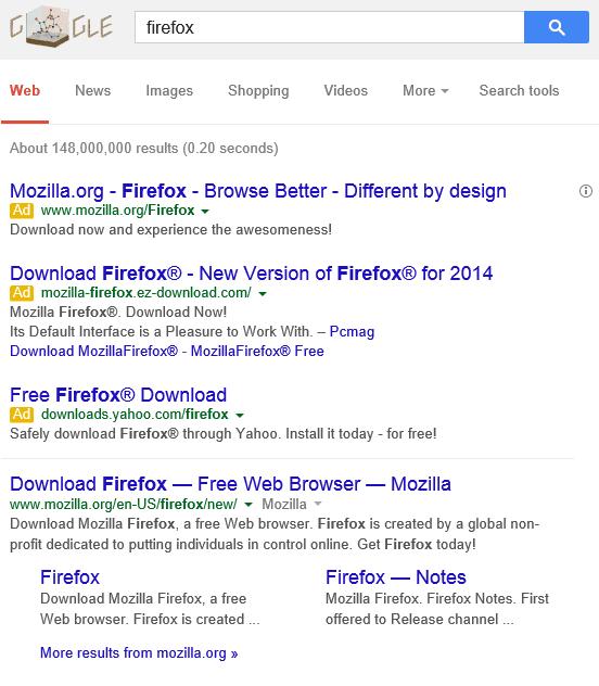 Fake Firefox downloads are still running rampant - 404 Tech