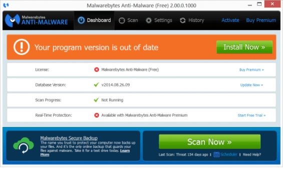 A new UI for Malwarebytes Anti-Malware in the works - 404