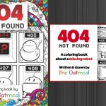 A robot adventure unfolds in 404 Not Found: A Coloring Book by The Oatmeal