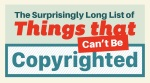 Things that you cannot copyright