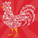 To celebrate the Chinese New Year, Cisco makes a rooster from tech icons