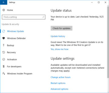Windows 10 Creators Update version 1703 now available to the Media