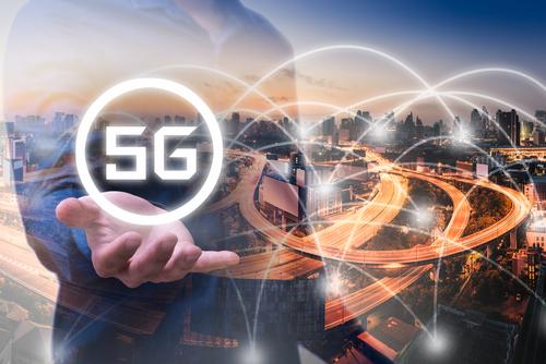 5g network futuristic logo