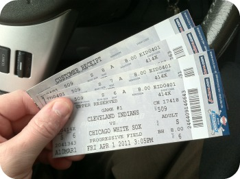 Opening Day 2011 Cleveland Indians Tickets