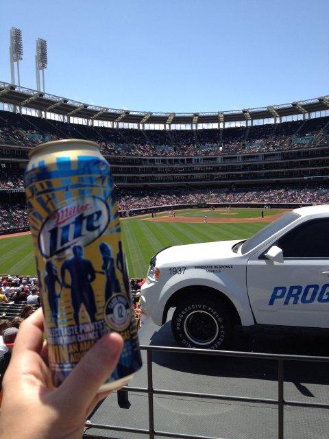 Progressive Field - Day Game Outfield