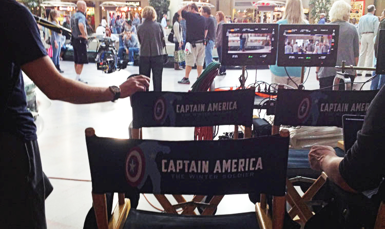 On Set With Captain America In Cleveland