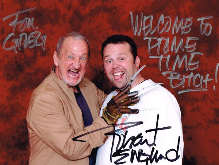 Robert Englund & Chewie Signed