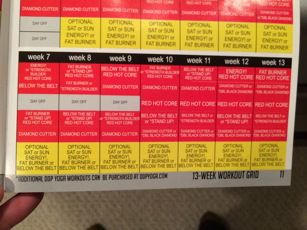 picture about Ddp Yoga Schedule Printable titled Ddp Yoga Work out Plan Pdf