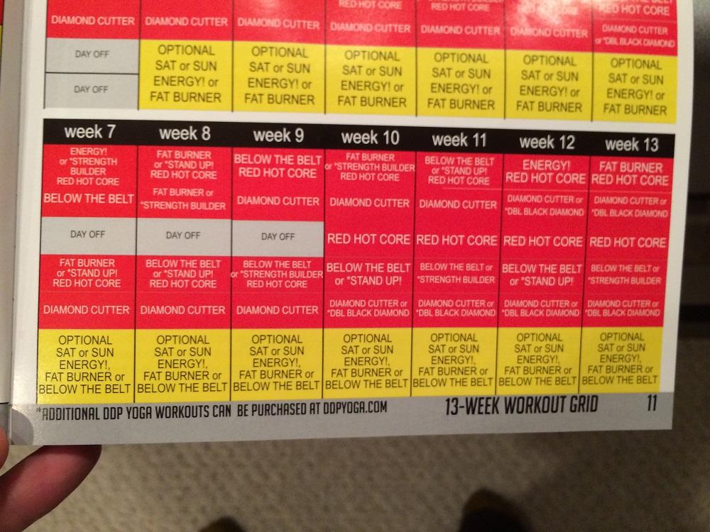 Slobbery image regarding ddp yoga schedule printable
