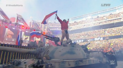 WrestleMania 31 - Rusev Tank