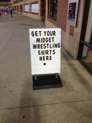 Midget Wrestling 2012 - Get Your Shirts
