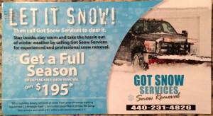 Got Snow Services 2016 Front